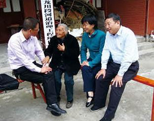 肖会长看望永嘉县沙头镇乌龙川村105岁的老人叶松娣
