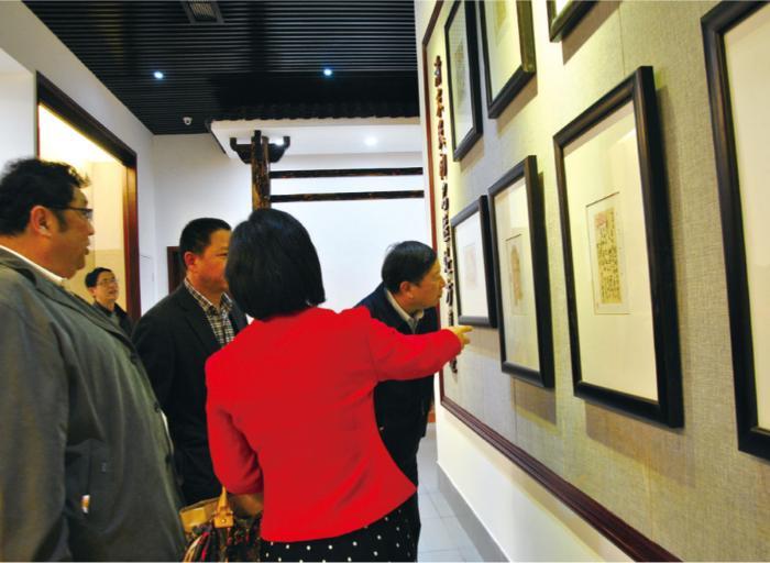 肖鲁伟会长一行在寿仙谷中医药文化馆参观考察