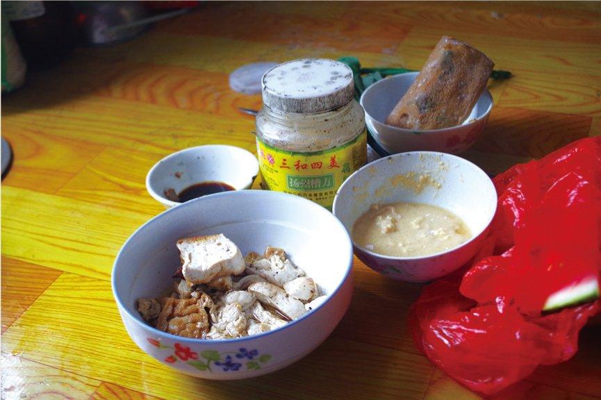 吴宽成老人日常吃的很简单