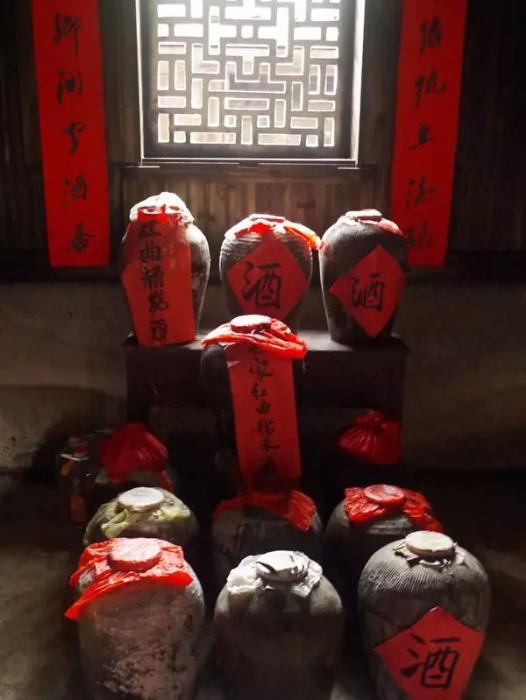 张思村展览馆内的红曲酒