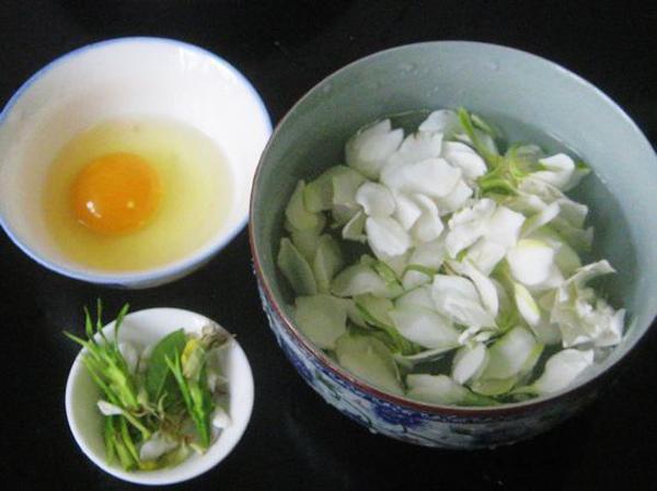 栀子花蛋汤