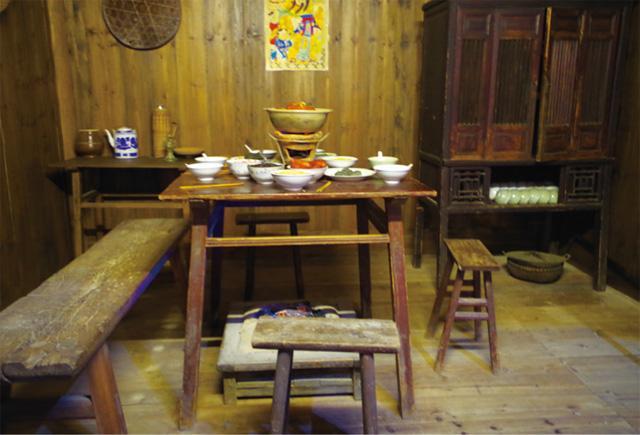 畲族典型的厨房展示