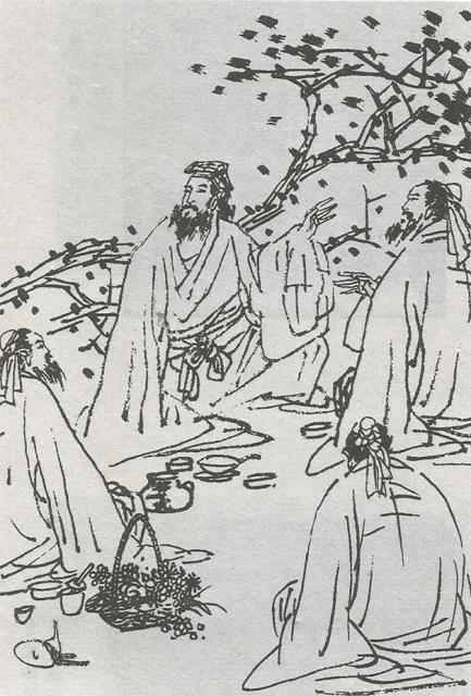 陶宴图(陈力农绘)